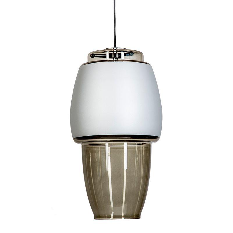 designerska lampa wisząca szara