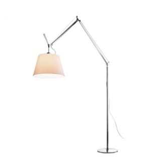 Nowoczesna lampa podłogowa Tolomeo Mega Terra, beż, abażur Ø32