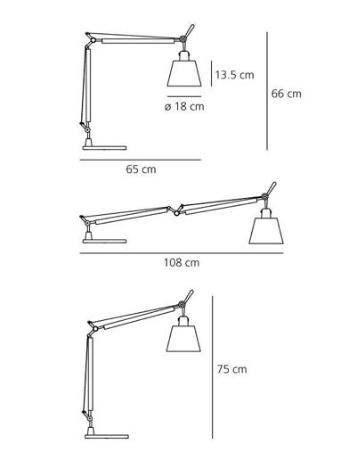 Lampa biurkowa Tolomeo Basculante Tavolo - beżowy abażur