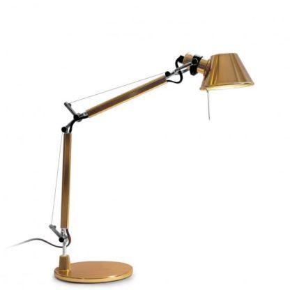 złota lampa do gabinetu