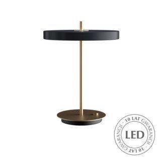 Lampa stołowa Asteria - antracyt, mosiądz, LED