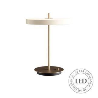 Lampa stołowa Asteria - LED, perłowa biel