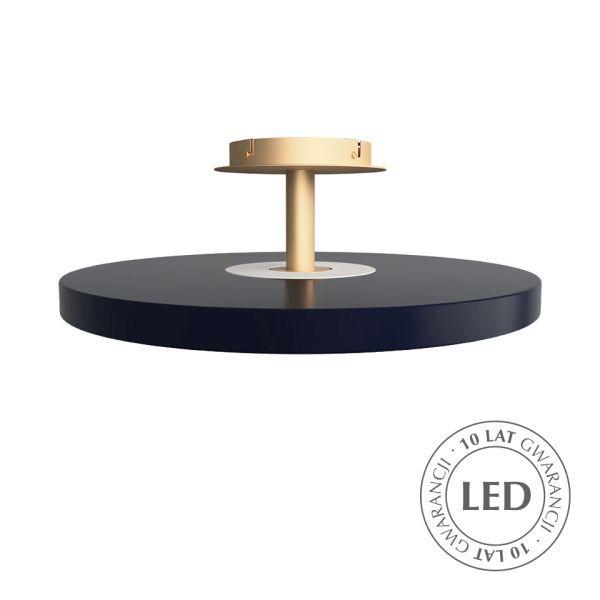 Elegancki plafon Asteria - płaski klosz, LED