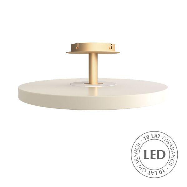 Lampa sufitowa Asteria - perłowa biel, LED