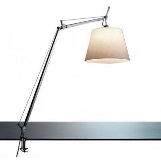 Lampa biurkowa Tolomeo Mega Tavolo - srebrna, abażur Ø42