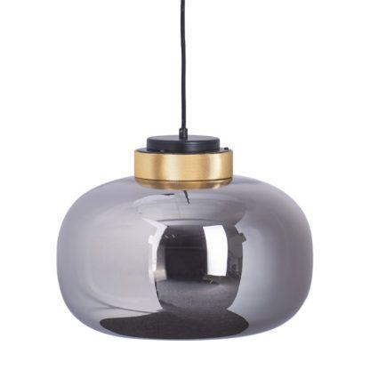 szara lampa z dymionego szkła
