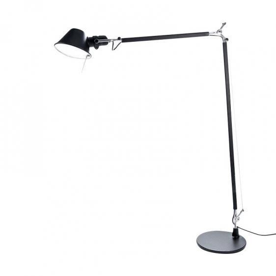 Nowoczesna lampa podłogowa Tolomeo Lettura - czarna