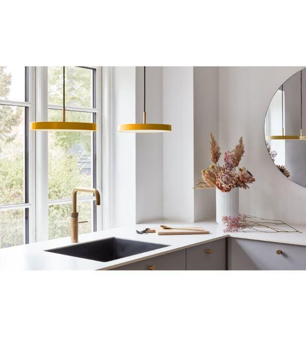 lampa wisząca z płaskim kloszem do kuchni