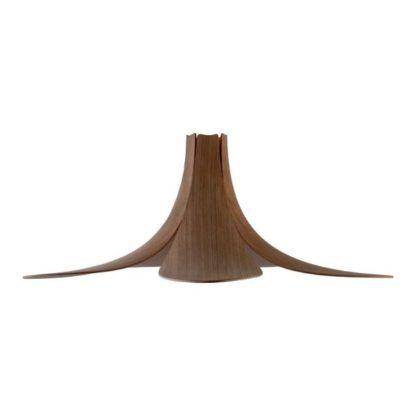 lampa wisząca klosz kwiat drewniana