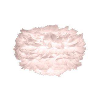 Różowa lampa wisząca Eos Mini - naturalne pióra