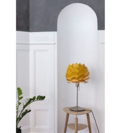 lampa stołowa musztardowy klosz