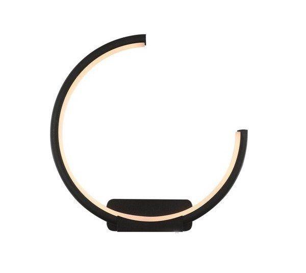 czarny ring nowoczesny kinkiet