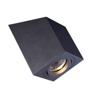 Lampa sufitowa Roncub - czarna, regulowana