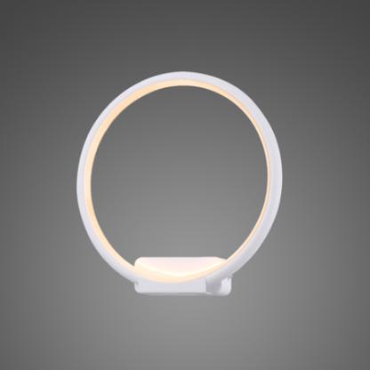 okrągły kinkiet ledowy biały