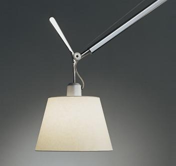 lampa z pergaminowym abażurem