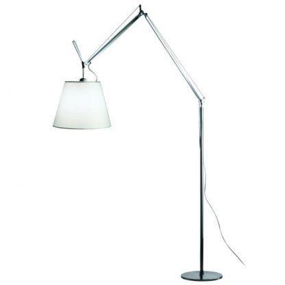 nowoczesna lampa podłogowa z abażurem