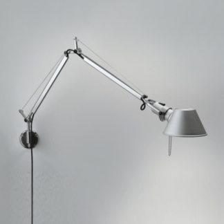 Kinkiet Tolomeo Mini Parete - srebrny, nowoczesny
