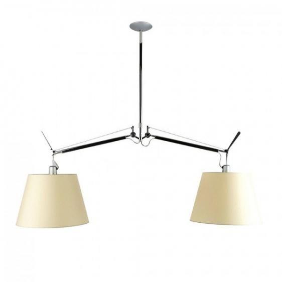 Lampa wisząca Tolomeo Basculante 2 Bracci - abażur Ø42