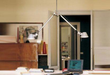 podwójna lampa wisząca metalowa