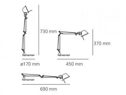 Lampa biurkowa Tolomeo Micro Tavolo - biała