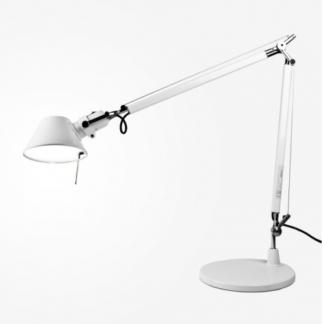Lampa biurkowa Tolomeo - biała, regulowana
