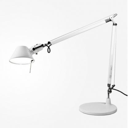 duża lampa biurkowa biała