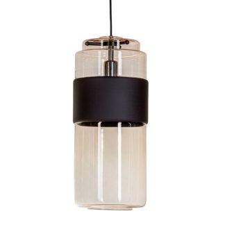 Lampa wisząca Umbriel Long - bursztynowa