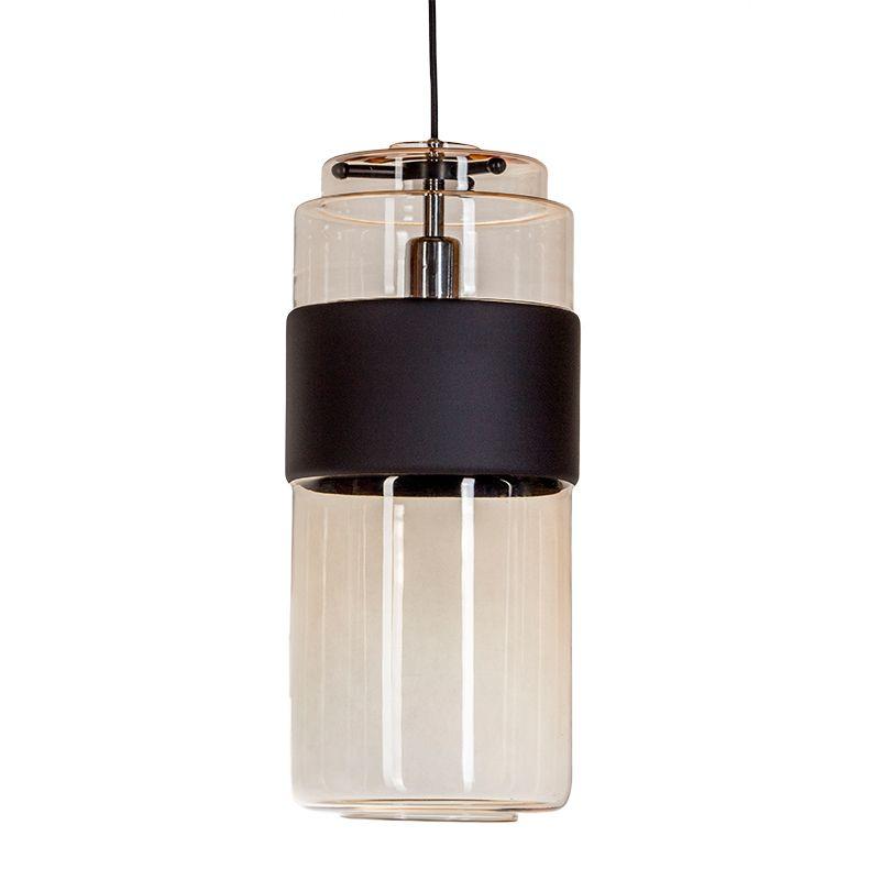 nowoczesna lampa wisząca barwione szkło