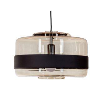 Szklana lampa wisząca Umbriel Wide - bursztynowa