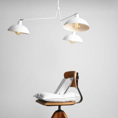 Biały żyrandol Espace - nowoczesny