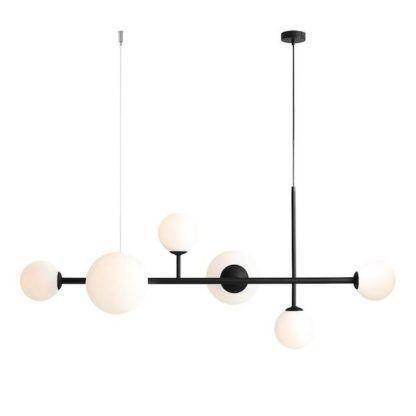 podłużna lampa klosze kule - nad stół