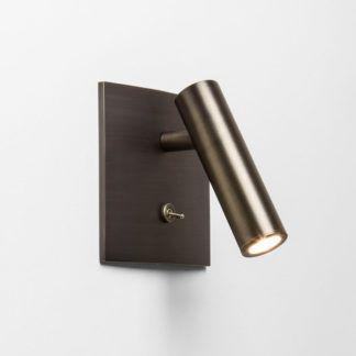 Kinkiet Enna Square LED - brązowy, nowoczesny