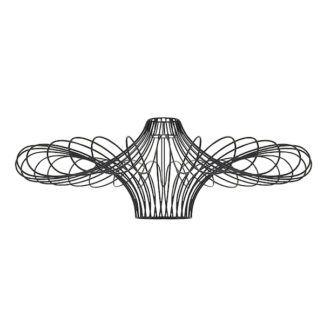 Oryginalna lampa Curl - druciana, czarna