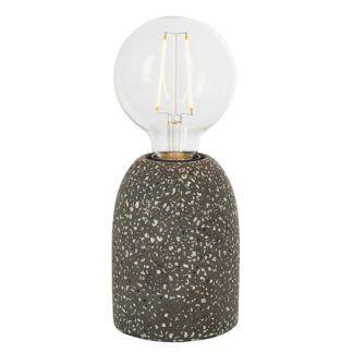 Dekoracyjna lampa stołowa Terazzo - ciemne lastryko