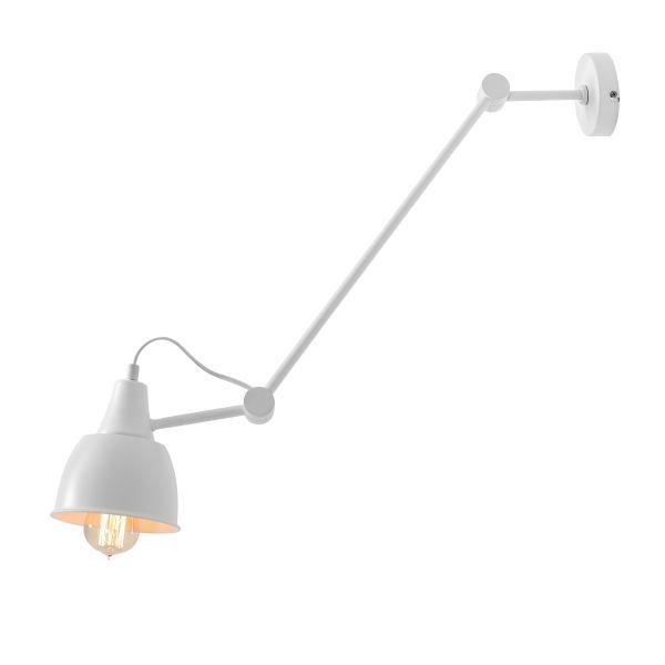 geometryczna lampa wisząca biała