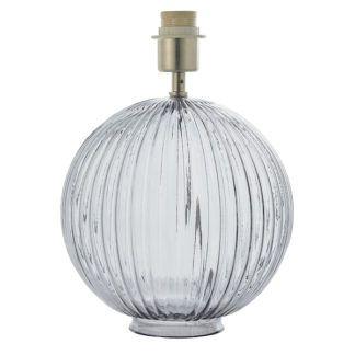 Szklana lampa stołowa Jemma - szara, transparentna