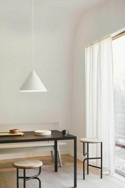 Duża lampa wisząca Benjamin XL - biały klosz