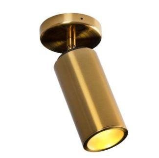 Reflektor sufitowy Varsovia - regulowany, złoty