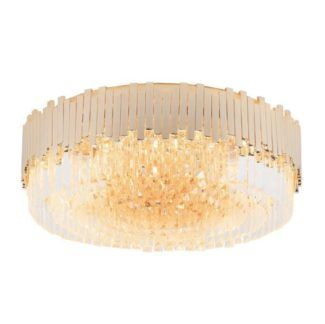 Duży plafon Trend - złoty, kryształki