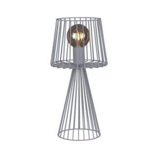 Druciana lampa stołowa Soul - szara