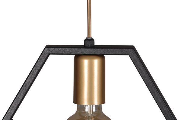 Nowoczesna lampa wisząca Honey – wielościan, czarna