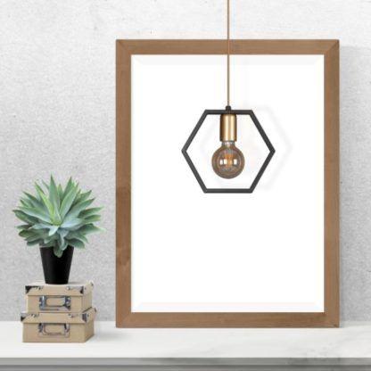druciana lampa wisząca