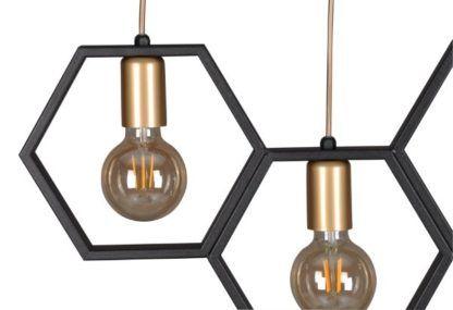 czarno-złota lampa wisząca