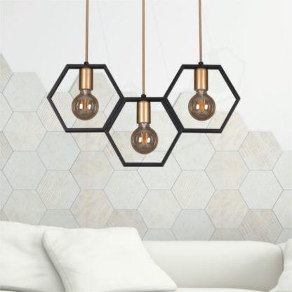 lampa wisząca plaster miodu