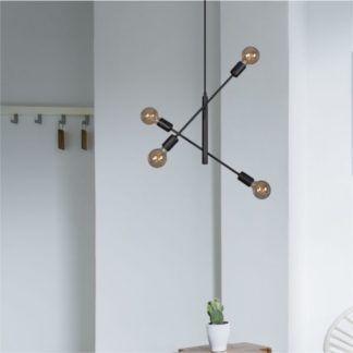 Lampa wisząca Camara - czarna, metalowa