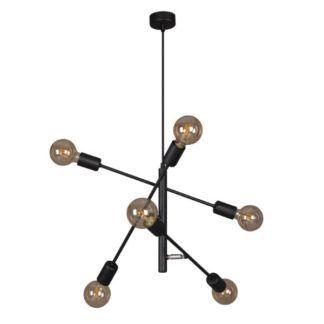 Czarna lampa wisząca Camara - 6 źródeł światła