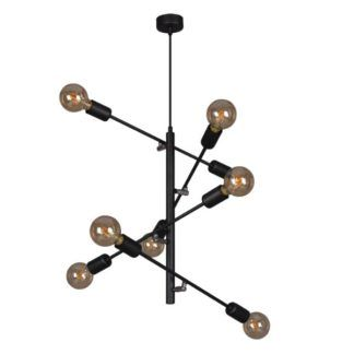 Duża lampa wisząca Camara - czarna, metalowa