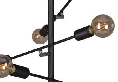 czarna lampa wisząca metal