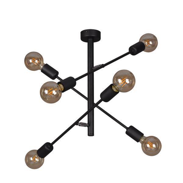 lampa sufitowa industrialna do salonu - żarówki