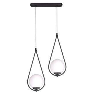 Podwójna lampa wisząca Neve - szklane klosze, nowoczesna